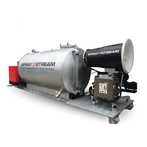 AQUACO SPRAYSTREAM autarke Staubbindemaschine – Spezialanfertigung