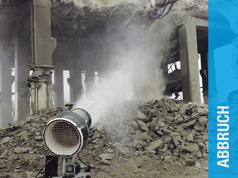 AQUACO Staubbindemaschine im Abbruchbereich