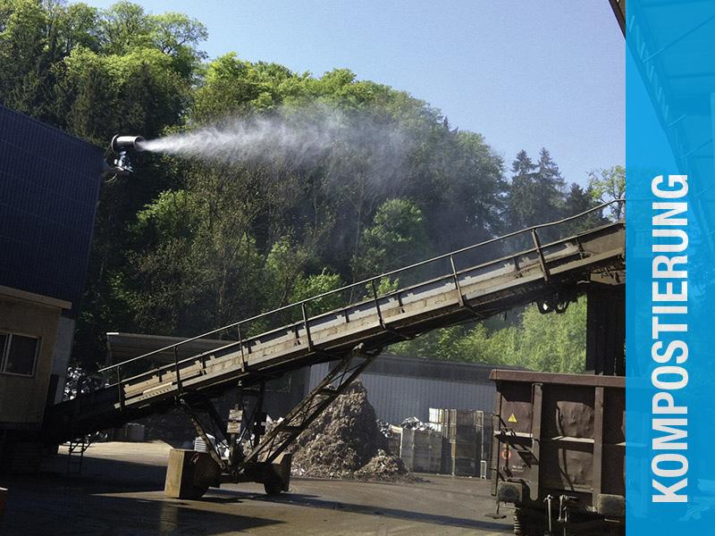 AQUACO Staubbindung in Kompostierungsanlage