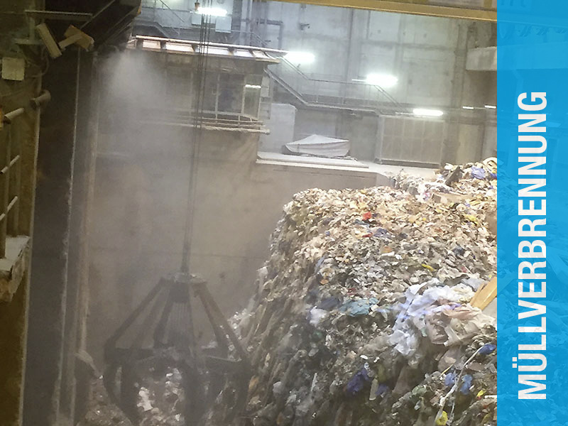 AQUACO Staubbindung in Müllverbrennungsanlage