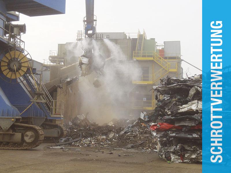 AQUACO Staubbindemaschine bei Schrottverwertung